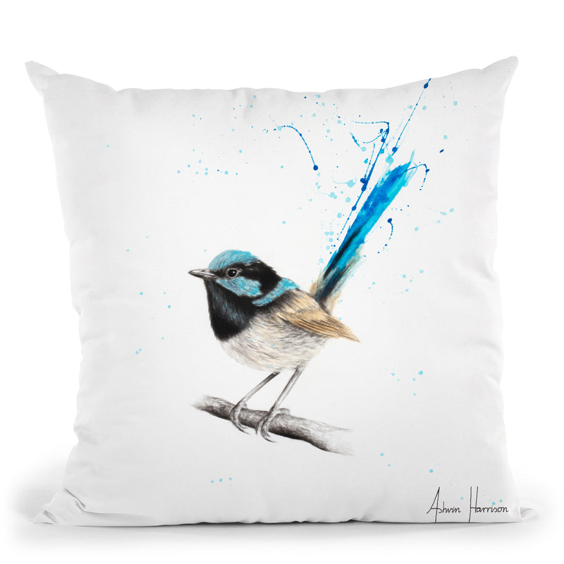Wren Wisdom Throw Pillow By Ashvin Harrison