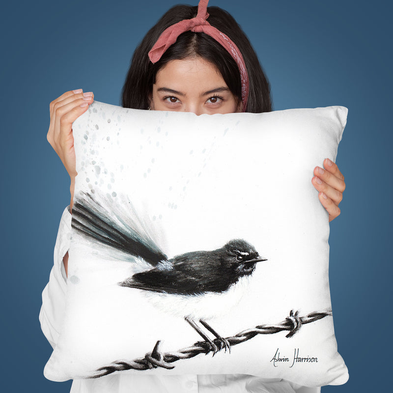 Coleraine Willy Wagtail Throw Pillow By Ashvin Harrison