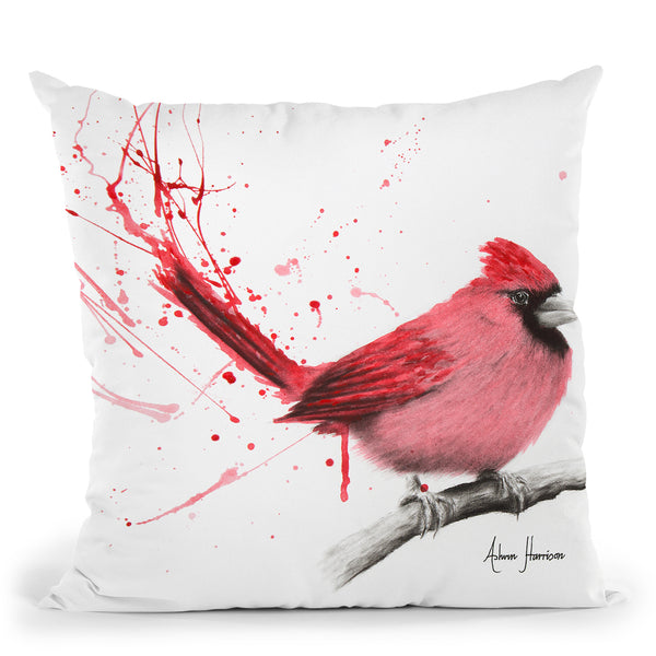 Curious Cardinal Throw Pillow By Ashvin Harrison