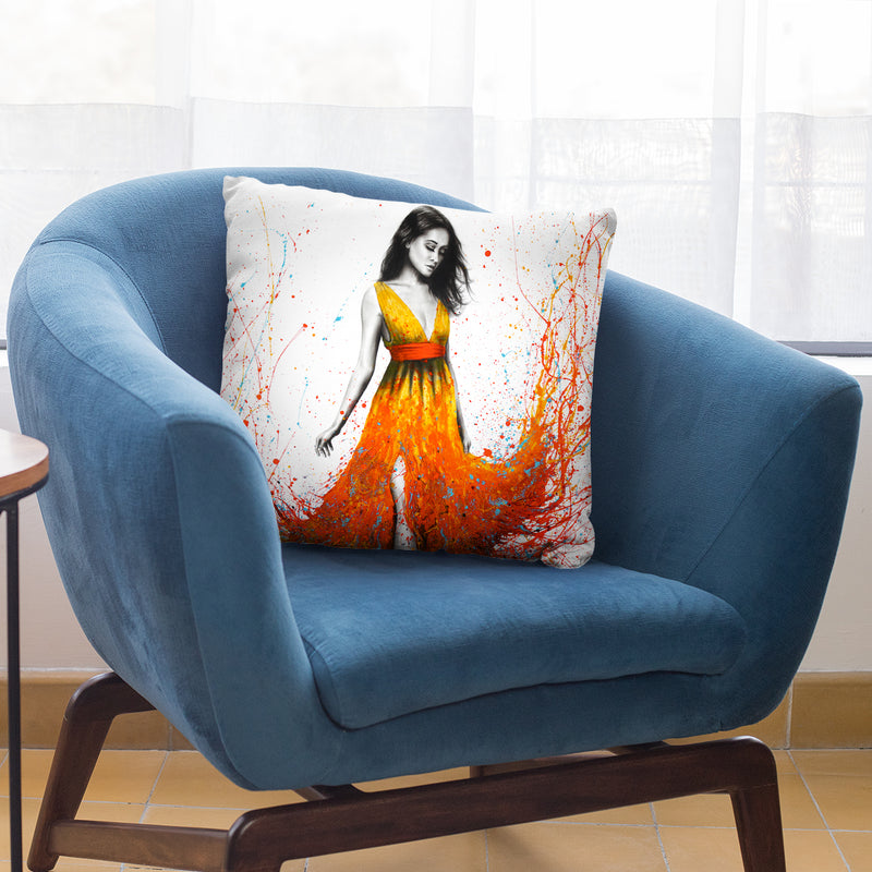 Electric Flame Throw Pillow By Ashvin Harrison