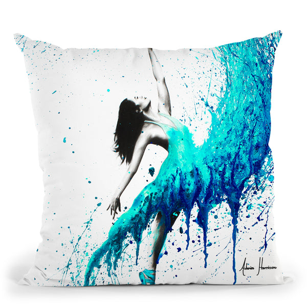 In The Waves Throw Pillow By Ashvin Harrison