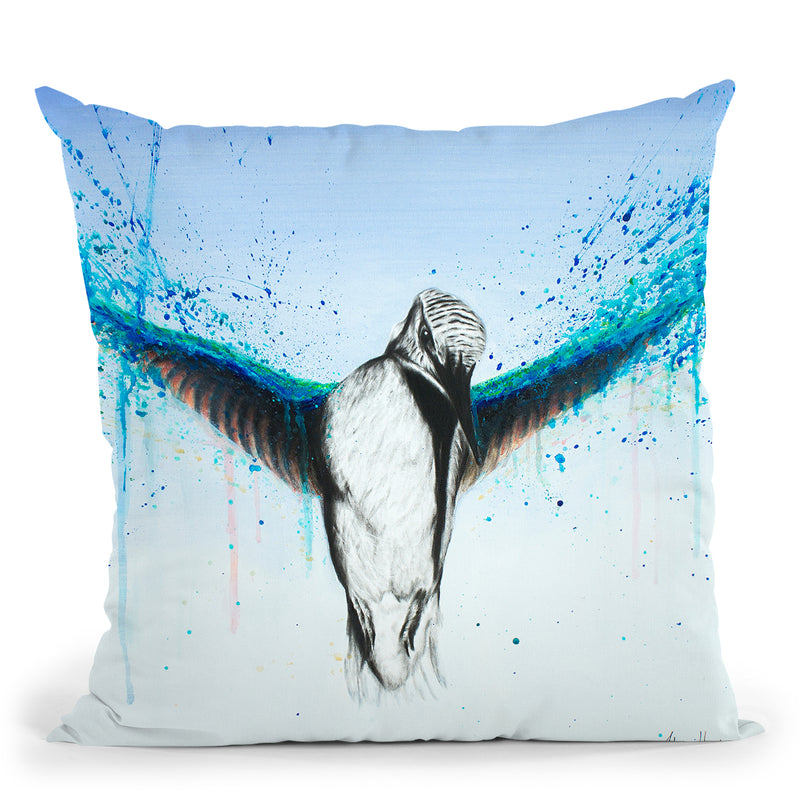 Kingfisher Rise Throw Pillow By Ashvin Harrison