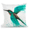 Kingfisher Tropics Throw Pillow By Ashvin Harrison