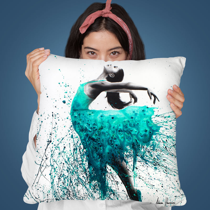 Kingfisher Woman Throw Pillow By Ashvin Harrison