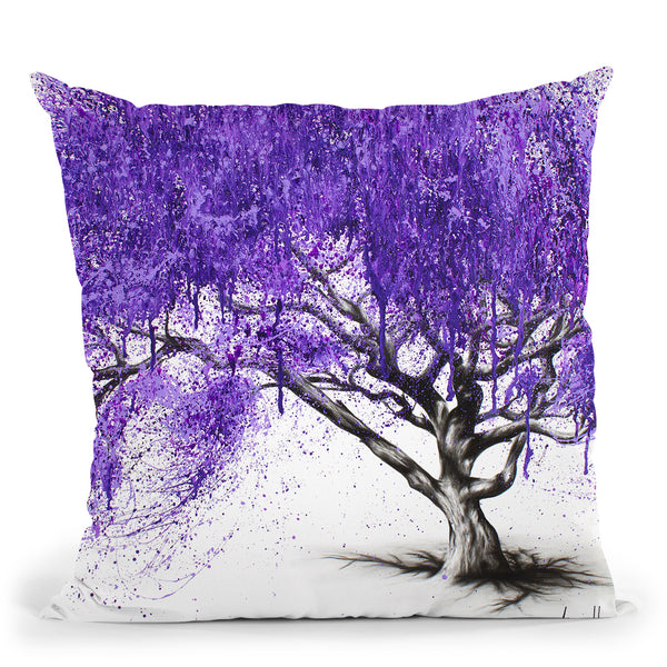 Meet You At The Jacaranda Throw Pillow By Ashvin Harrison
