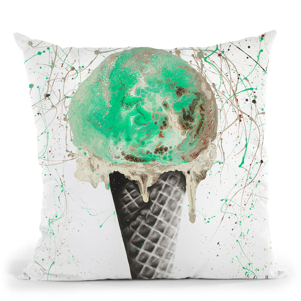 Mint And Chocolate Throw Pillow By Ashvin Harrison