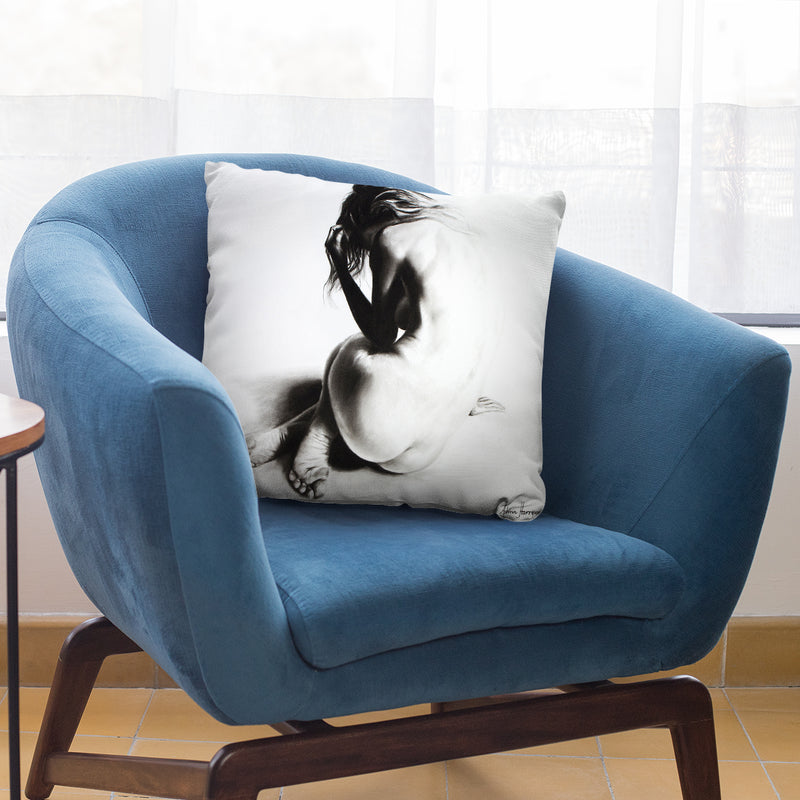 Nude Woman Charcoal Study 38 Throw Pillow By Ashvin Harrison