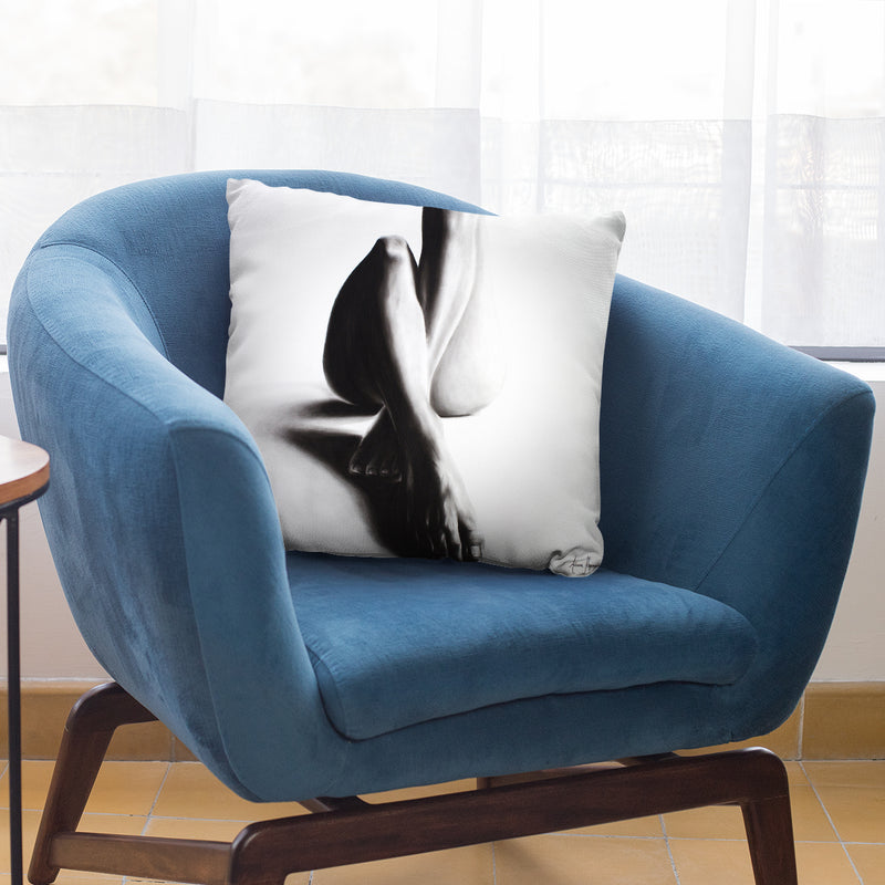 Nude Woman Charcoal Study 39 Throw Pillow By Ashvin Harrison
