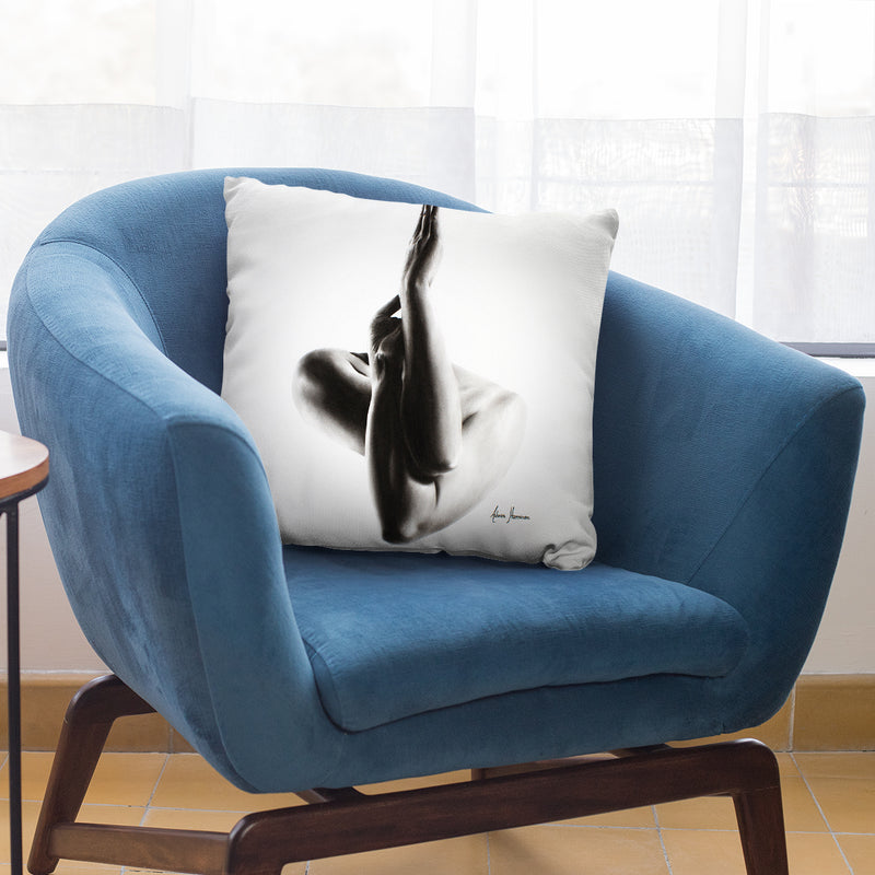 Nude Woman Charcoal Study 47 Throw Pillow By Ashvin Harrison