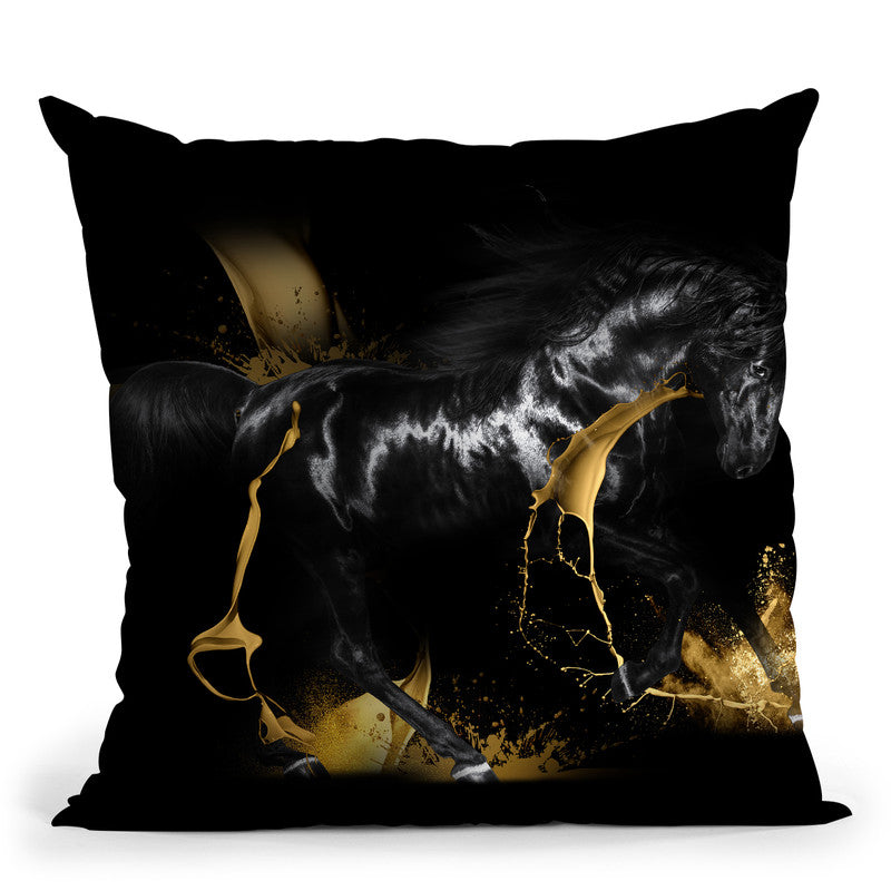 Horse Throw Pillow By Alexandre Venancio