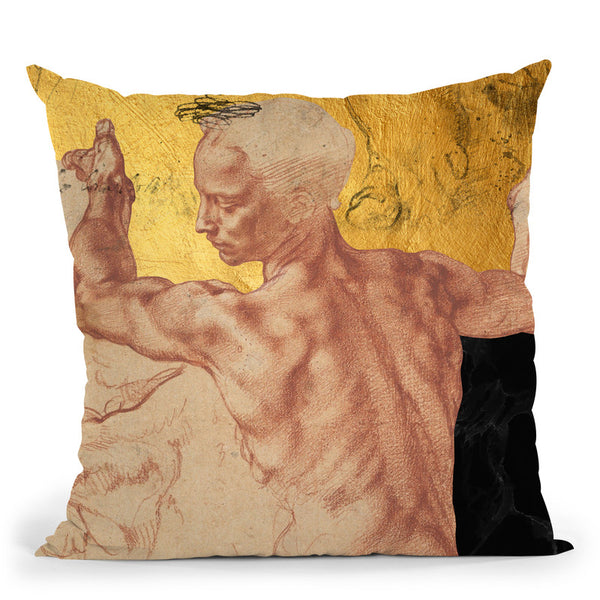 Masterpieces Remix Michelangelo I Throw Pillow By Alexandre Venancio