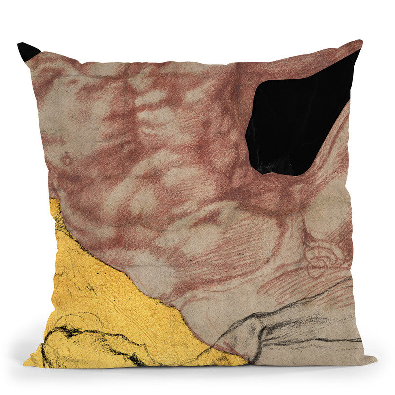 Masterpieces Remix Michelangelo Ii Throw Pillow By Alexandre Venancio