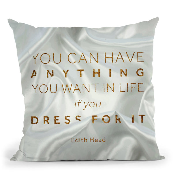 Fashion Art Deco Edithhead Throw Pillow By Alexandre Venancio