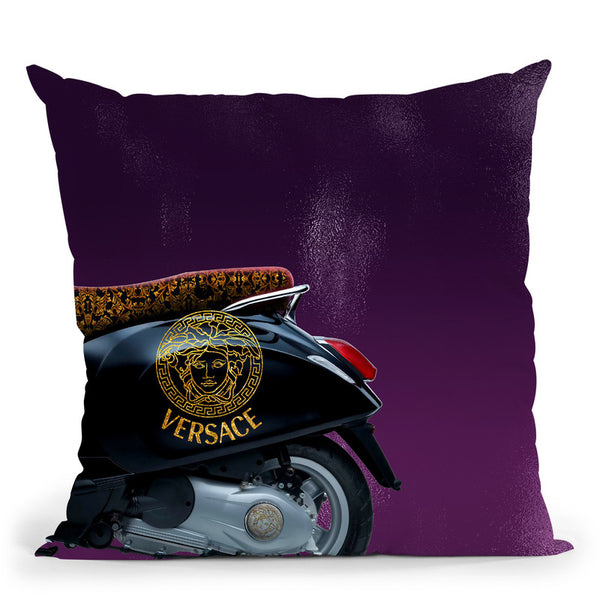 Fashion Vespa Versace Ii Throw Pillow By Alexandre Venancio