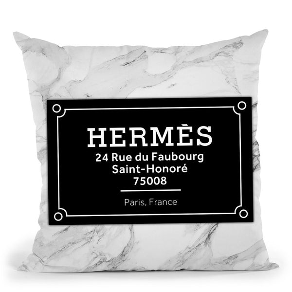 Fashion Street Sign Hermes Throw Pillow By Alexandre Venancio