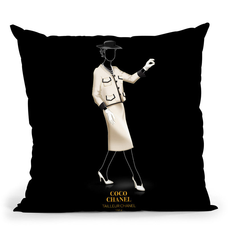 Iconic Dresses Tailleur I Throw Pillow By Alexandre Venancio