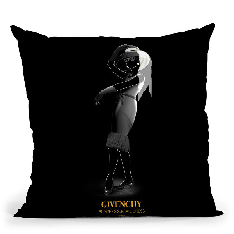 Iconic Dresses Givenchy I Throw Pillow By Alexandre Venancio