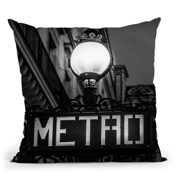 Paris In Black And White Composition Metro Throw Pillow By Alexandre Venancio