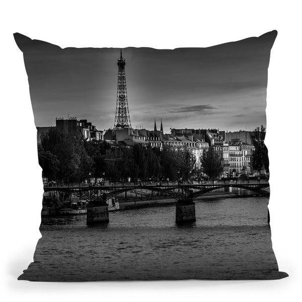 Parisinblackandwhite Compositiona Pont Des Arts Throw Pillow By Alexandre Venancio