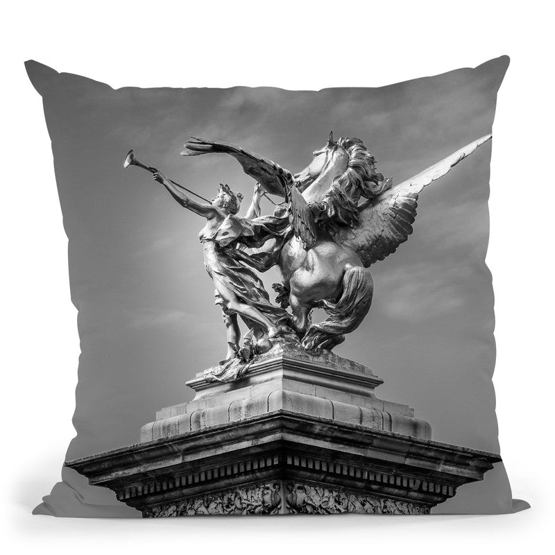 Parisin Black And White Composition Ii Throw Pillow By Alexandre Venancio