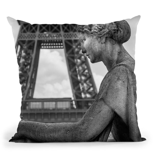 Paris In Black And White Composition Iv Throw Pillow By Alexandre Venancio