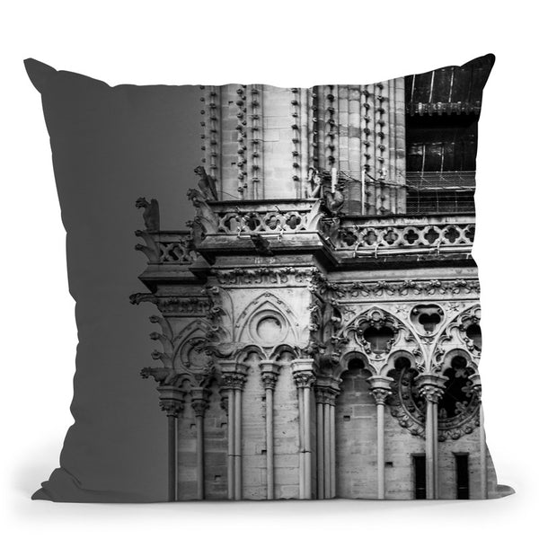 Paris In Black And White Composition V Throw Pillow By Alexandre Venancio