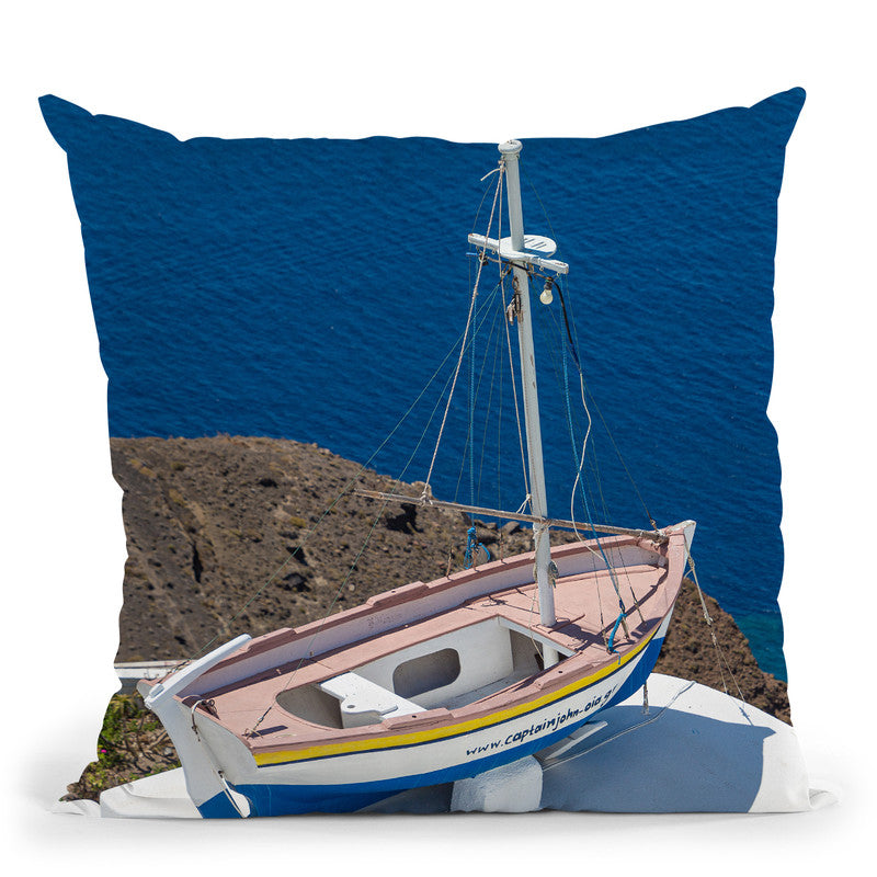 Santorini Composition Ii Throw Pillow By Alexandre Venancio