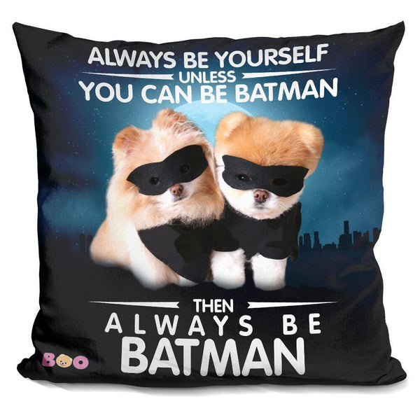 Boo Batman Throw Pillow