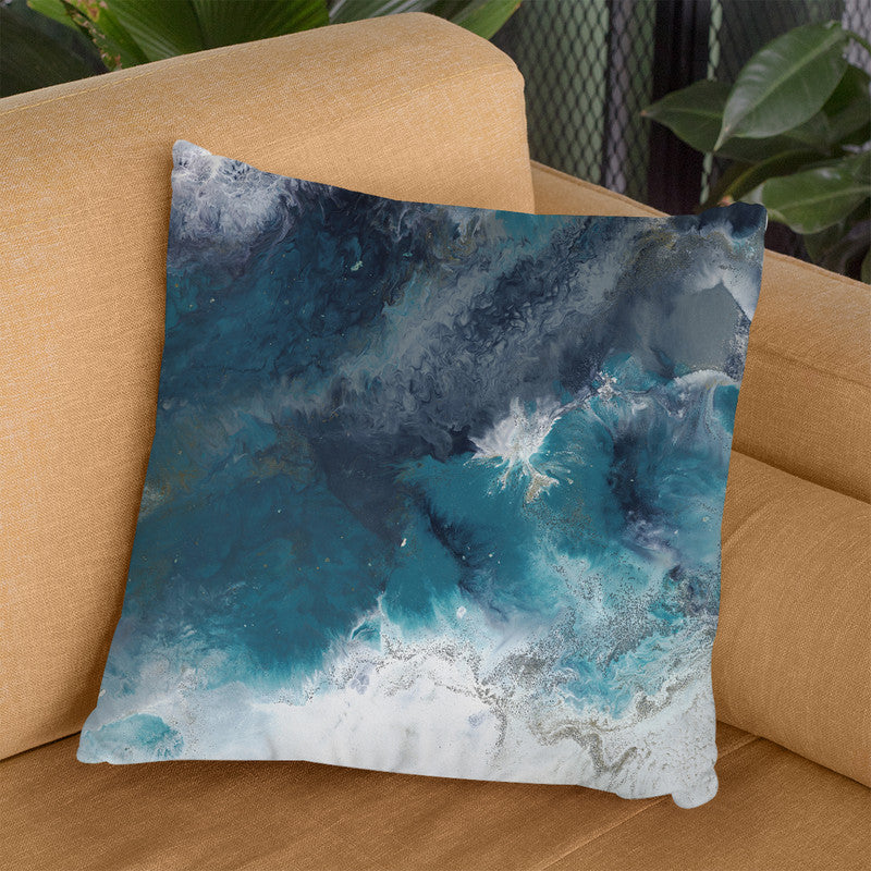 Teal Ocean 2 Throw Pillow By Blakely Bering