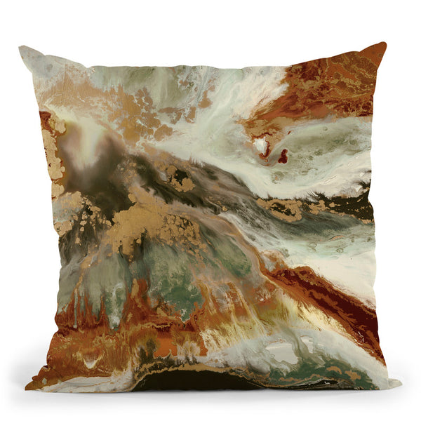 Fluid Copper Throw Pillow By Blakely Bering