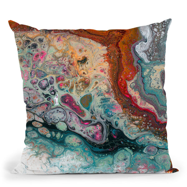 Colorful Comtemporary 1 Throw Pillow By Blakely Bering