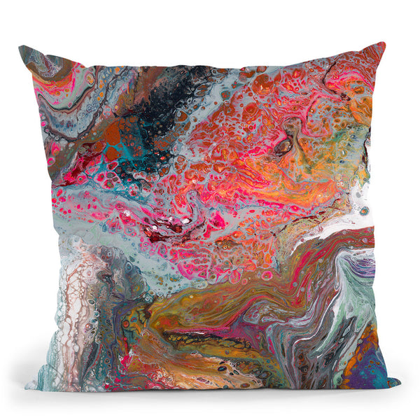 Colorful Comtemporary 2 Throw Pillow By Blakely Bering