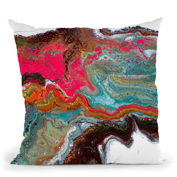 Colorful Comtemporary 3 Throw Pillow By Blakely Bering