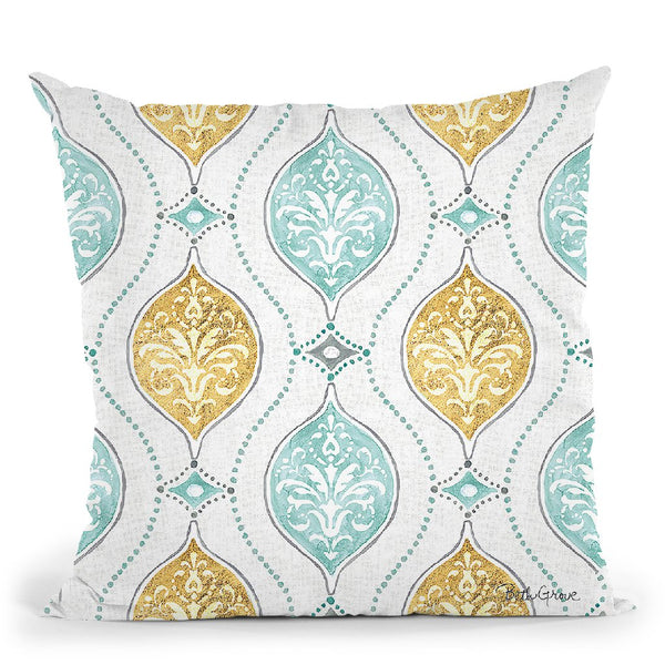 Winter Coast Pattern Via Throw Pillow By Beth Grove