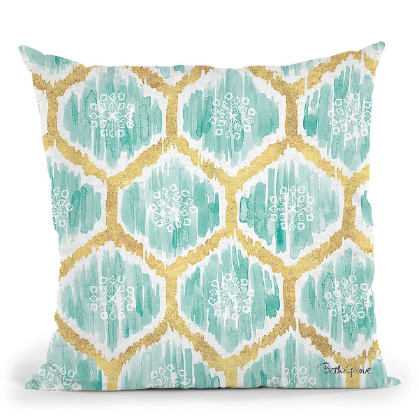 Winter Coast Pattern Va Throw Pillow By Beth Grove
