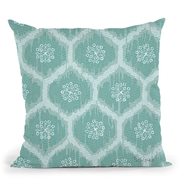 Winter Coast Pattern Vd Throw Pillow By Beth Grove