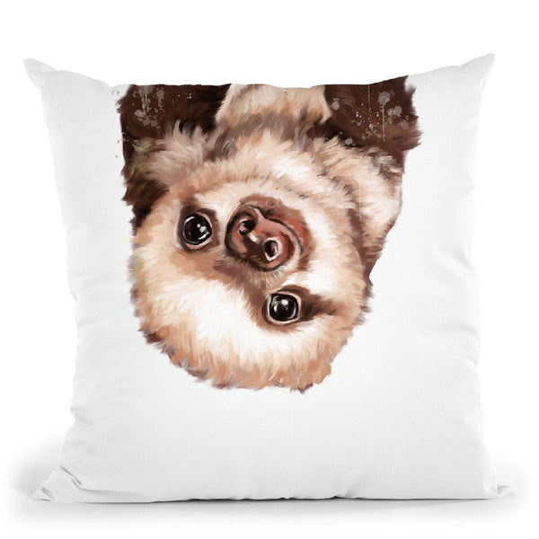 Baby Sloth Throw Pillow by Big Nose Work