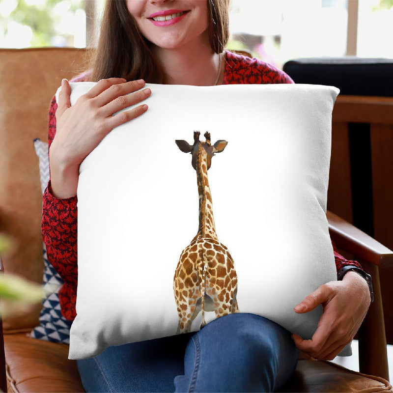 Giraffe Butt Throw Pillow by Big Nose Work