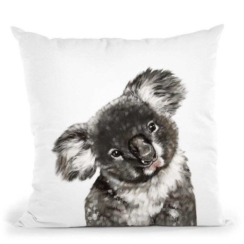 Koala Bear Throw Pillow by Big Nose Work