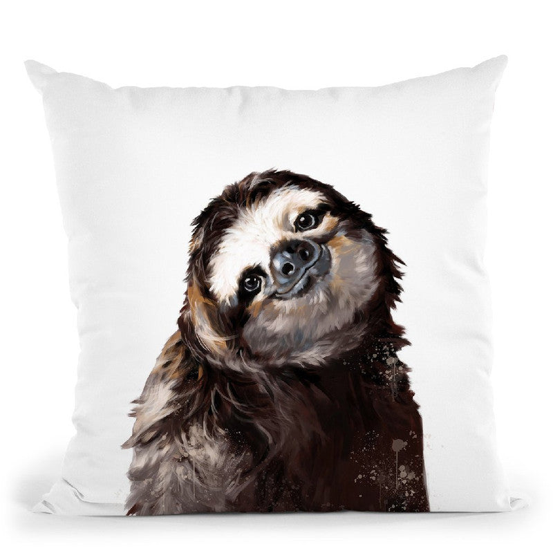 Sloth Throw Pillow by Big Nose Work
