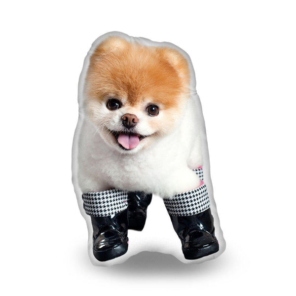 Boo In Boots Throw Pillow