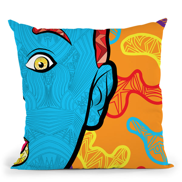 Pop-Innocence Throw Pillow By Baro Sarre