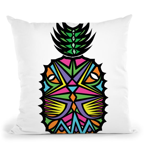 Vibrant Pineapple Throw Pillow By Baro Sarre