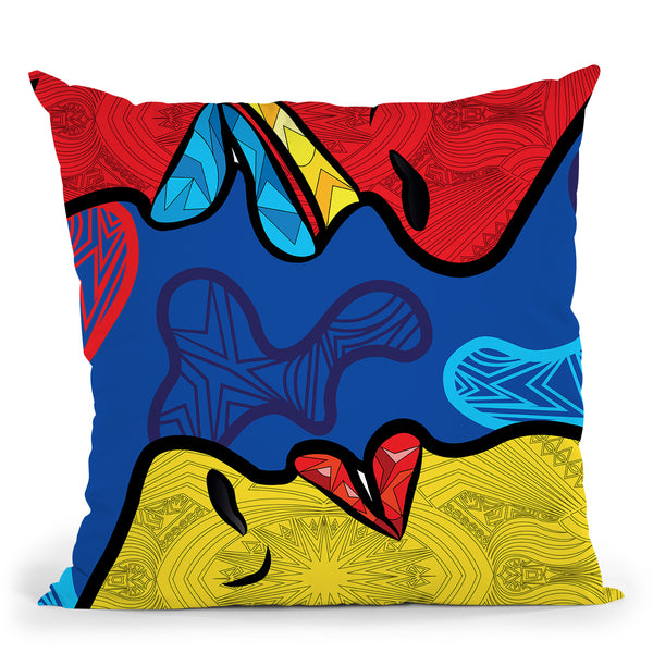 Pop-Midnight Throw Pillow By Baro Sarre