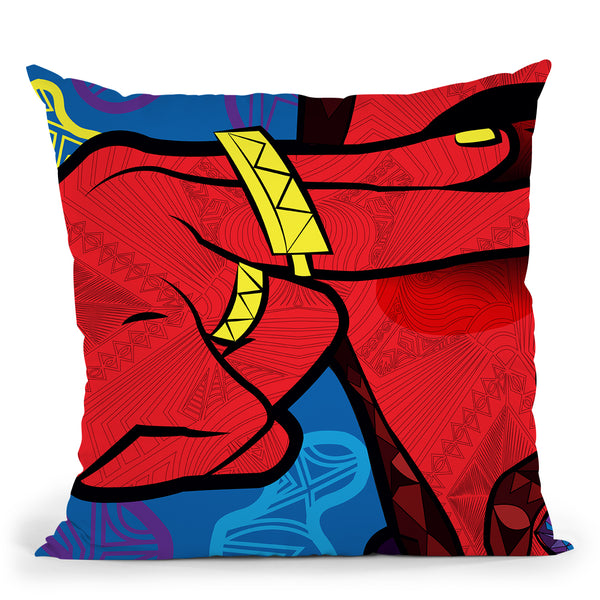 Pop-Vision Throw Pillow By Baro Sarre