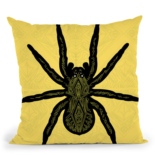 Spider-Sauvage Throw Pillow By Baro Sarre