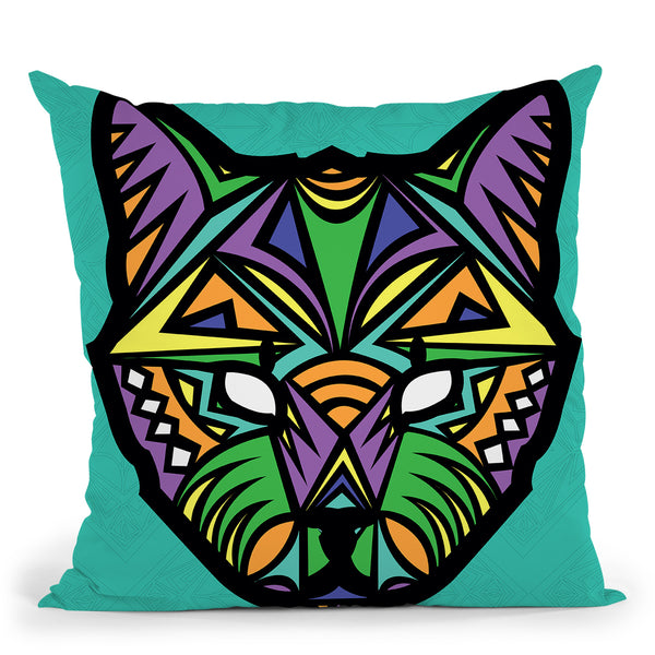 Cat-Sauvage Throw Pillow By Baro Sarre