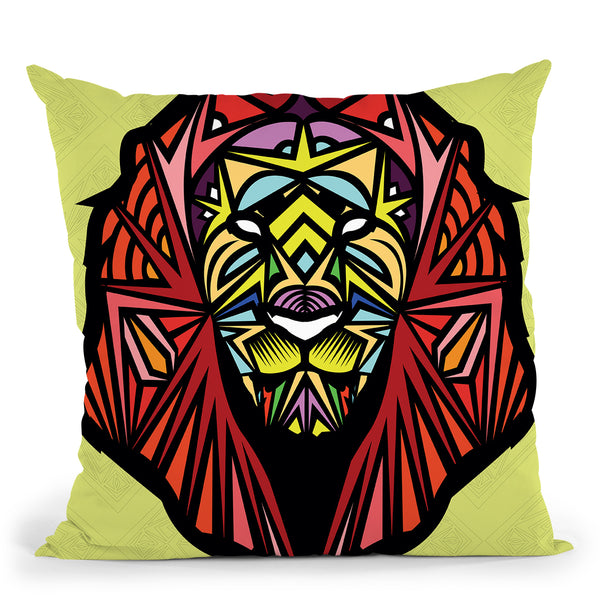 Lion-Sauvage Throw Pillow By Baro Sarre