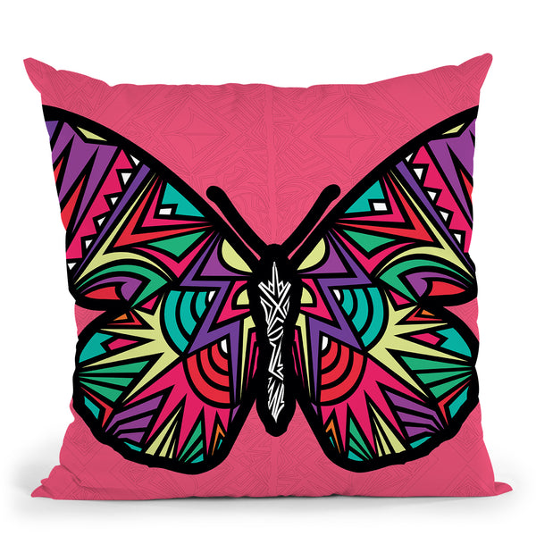 Butterfly-Sauvage Throw Pillow By Baro Sarre