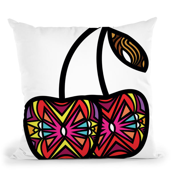 Vibrant Cherries Throw Pillow By Baro Sarre